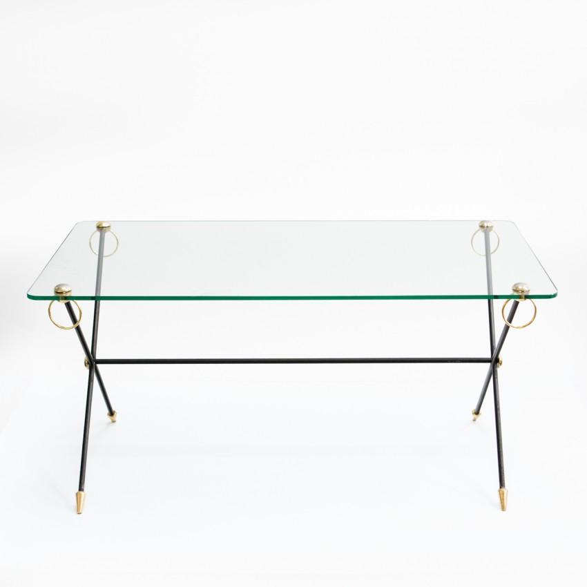 Table basse rectangulaire à anneaux Carlis - 1960