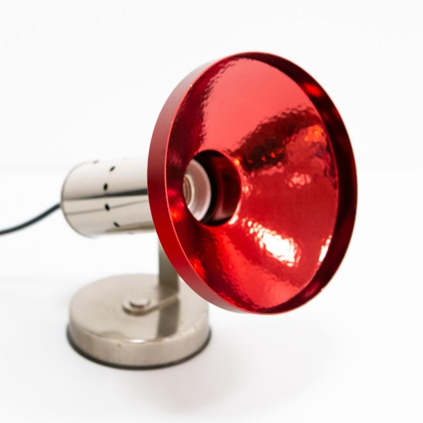 Spot à poser rouge des années 1970 - Philips