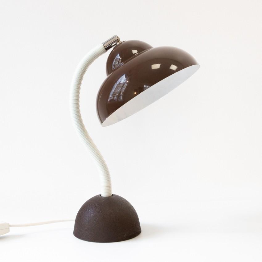 Lampe de chevet marron des années 1960
