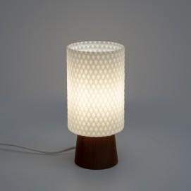 Lampe de chevet en opaline et bois éditée par Philips dans les années 1960