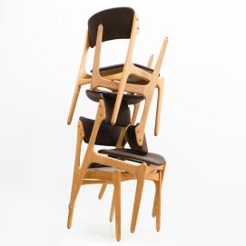 Chaises et fauteuils de salle à manger d'Erik Buck pour Domus Danica