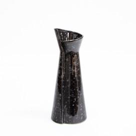Vase en céramique noire des années 1960