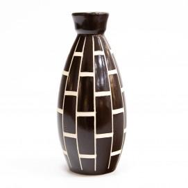 Céramique décorative en noir et blanc