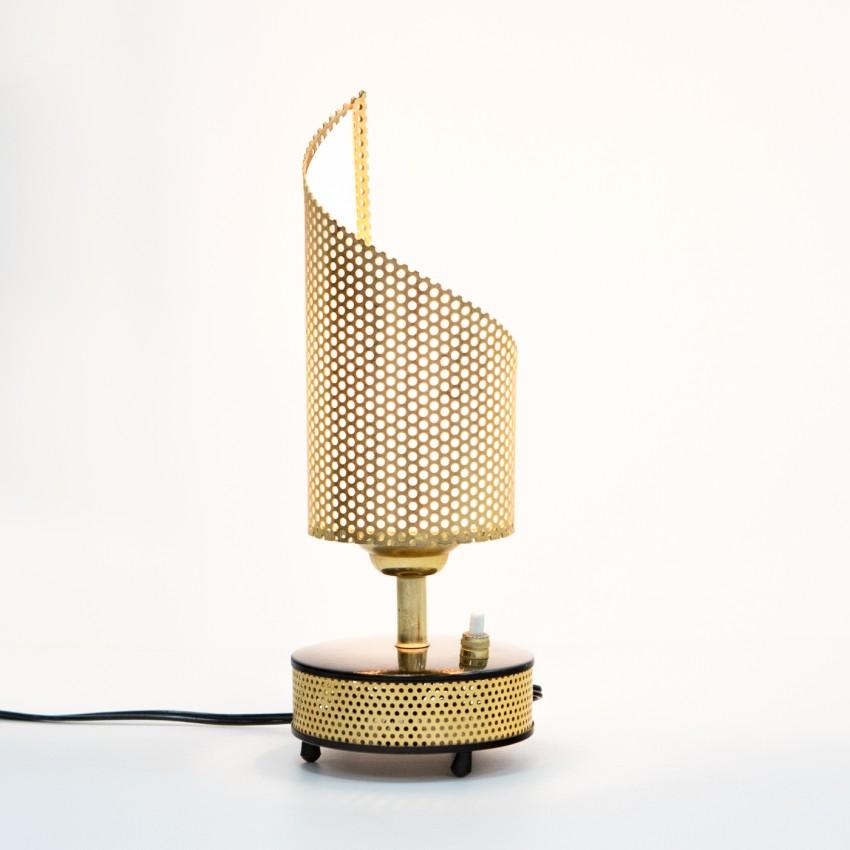 Lampe monopode en tôle perforée Télé-Ambiance