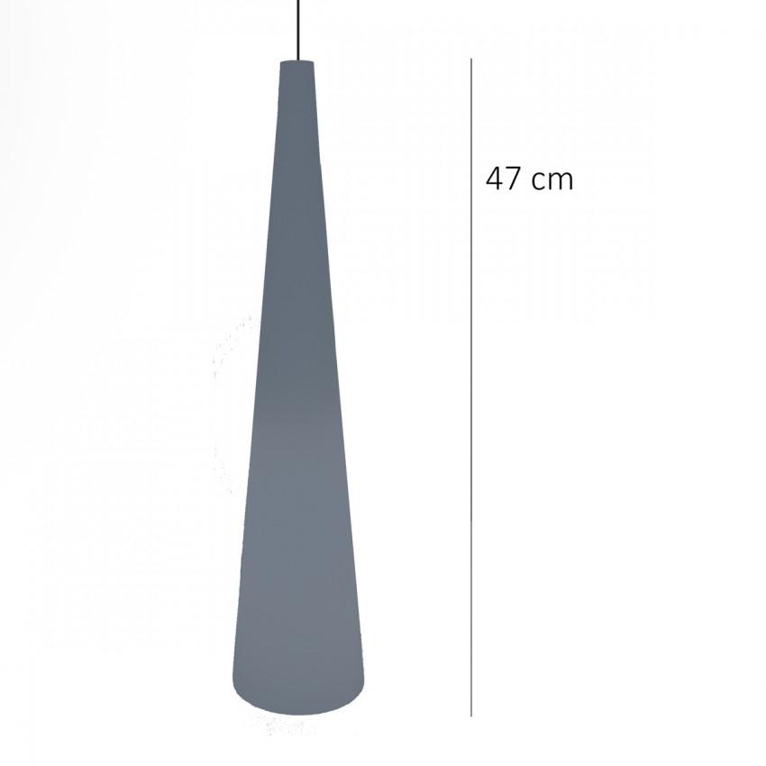 Grande suspension en opaline conique des années 1960
