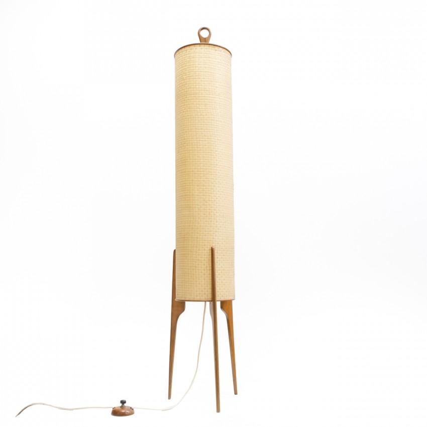 Lampadaire Rocket cylindrique tripode des années 1960