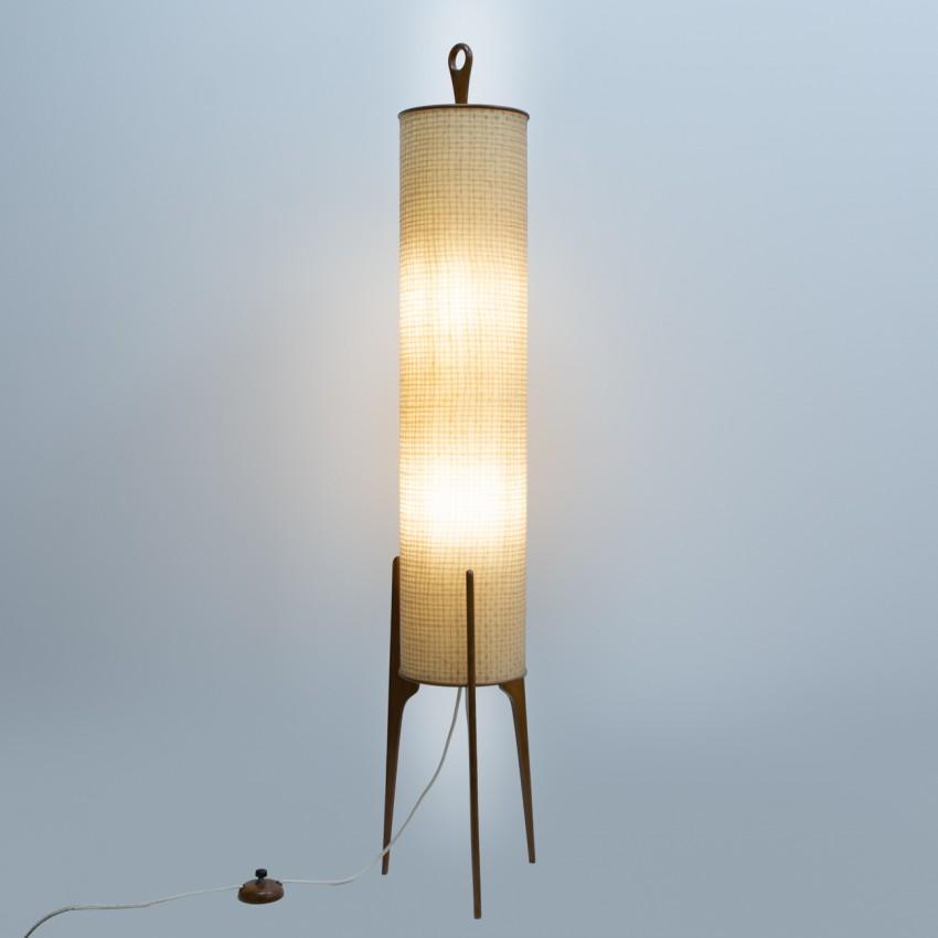 Lampadaire cylindrique tripode des Trente Glorieuses