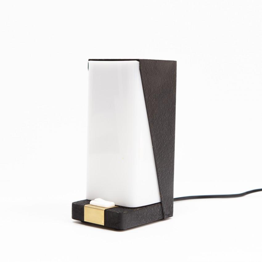 Lampe de télévision en métal et plexiglas des années 1960