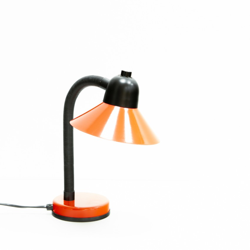 Lampe de bureau Aluminor rouge flexible en plastique