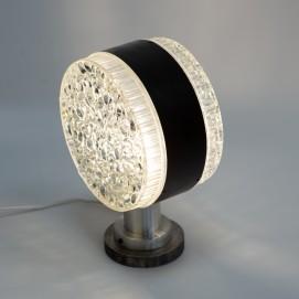 Grande lampe en verre et métal Stilux