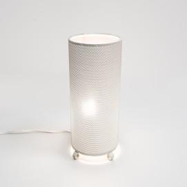 Cylindre lumineux en tôle ajourée des années 1950
