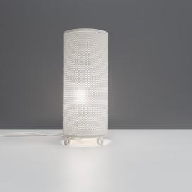 Lampe cylindre en tôle ajourée des années 1950