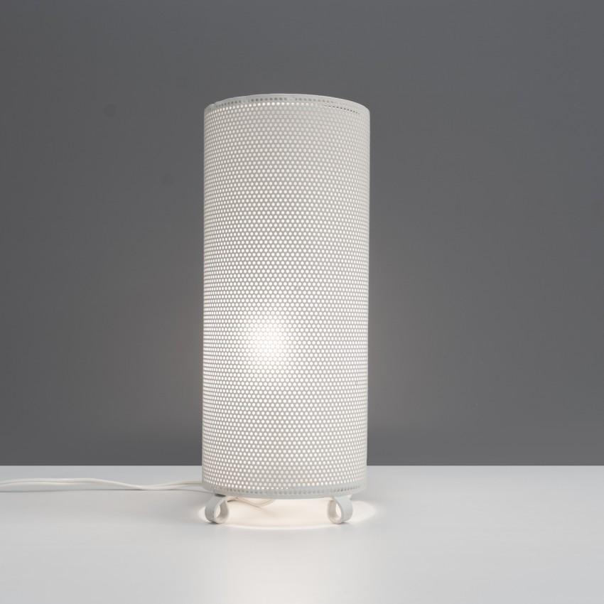 Lampe cylindrique en tôle perforée des années 1950