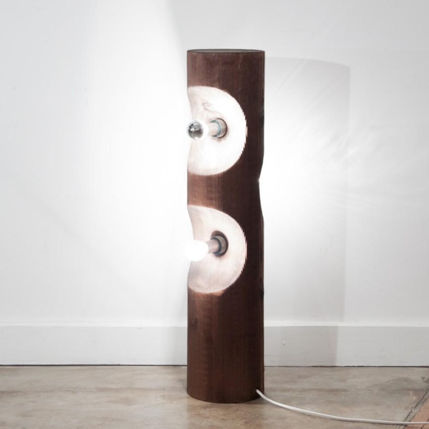 Luminaire Temde-Leuchten en bois - années 1970