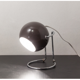 Lampe Eyeball marron vintage