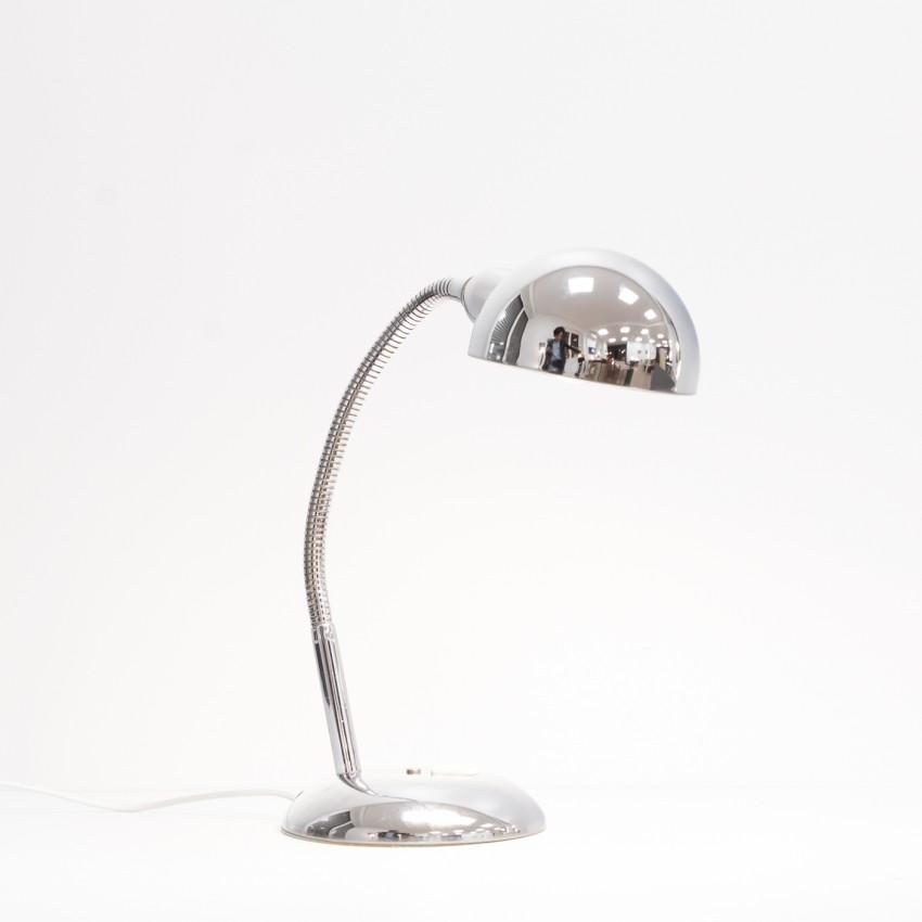 Lampe de bureau flexible chromée des années 1970
