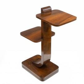 Bout de canapé à deux tablettes en bois