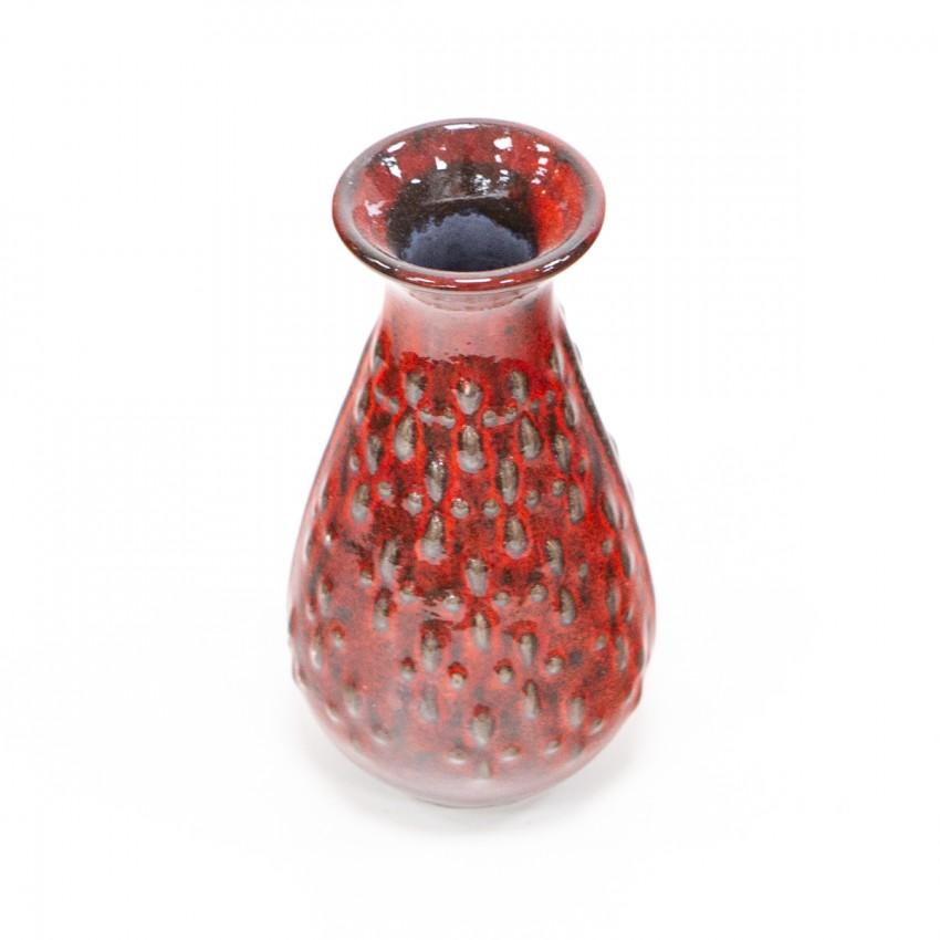 Vase en céramique rouge des années 1960 - Jasba 1540-15