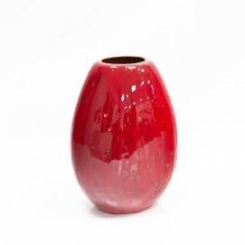 Vase en céramique allemande rouge des années 1960