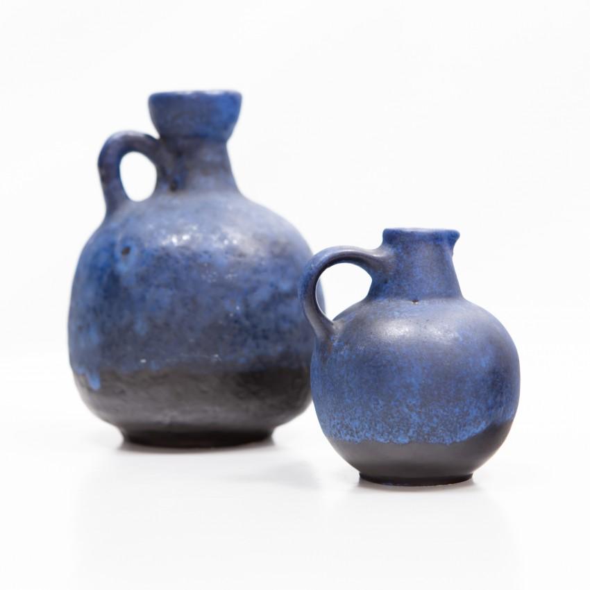 Céramiques bleues Ruscha 333 et Ruscha 304