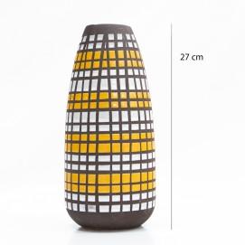 Vase en céramique à carreaux Strehla