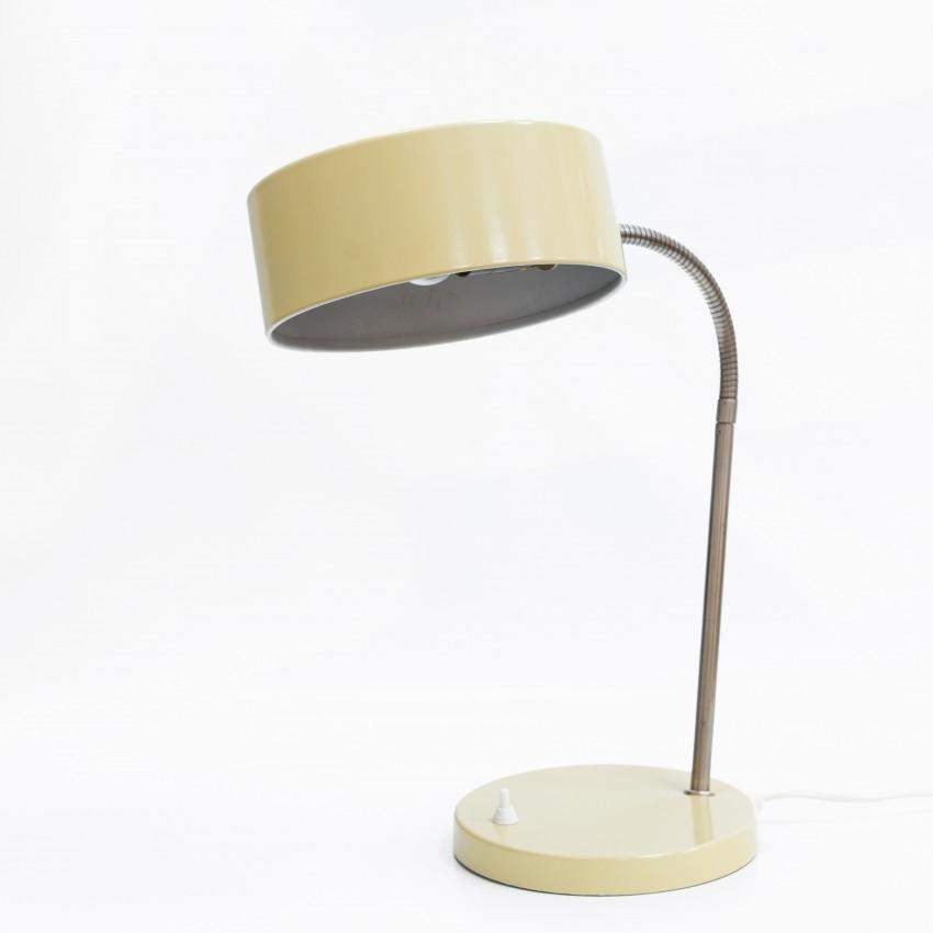 Lampe de bureau au diffuseur cylindrique ajouré des années 1960
