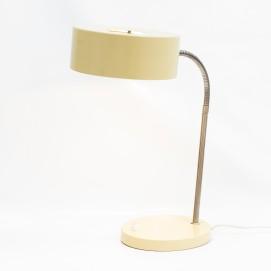 Lampe de bureau au diffuseur cylindrique et au flexible chromé des années 1960