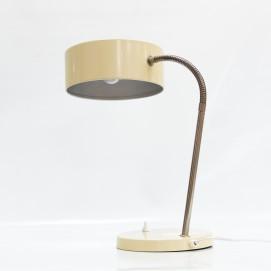 Lampe de bureau jaune et chromée des années 1960
