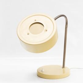 Lampe de bureau en tôle laquée de jaune