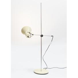 Lampadaire ajustable à spot en tôle laquée jaune des années 1970
