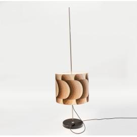 Lampadaire cylindrique ajustable des années 1960