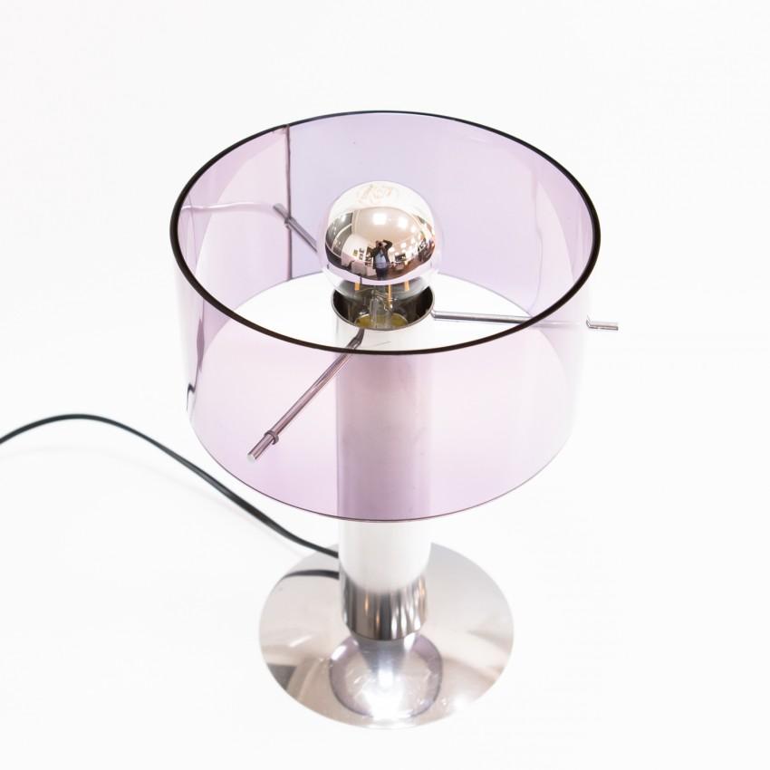 Lampe cylindrique en métal et Plexiglas - Philippe Rogier pour Oxar, 1972