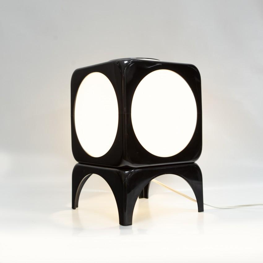 Cube lumineux en plastique des années 1970 - Hoyrup
