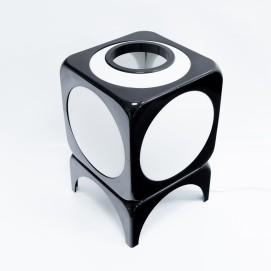 Cube lumineux en résine marron des années 1970 - Hoyrup