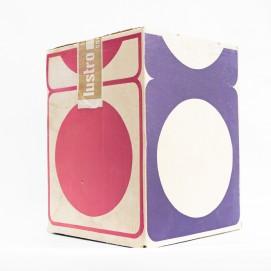 Lampe dé en résine marron - Carton d'emballage Lustro, Luminaires contemporains, Paris