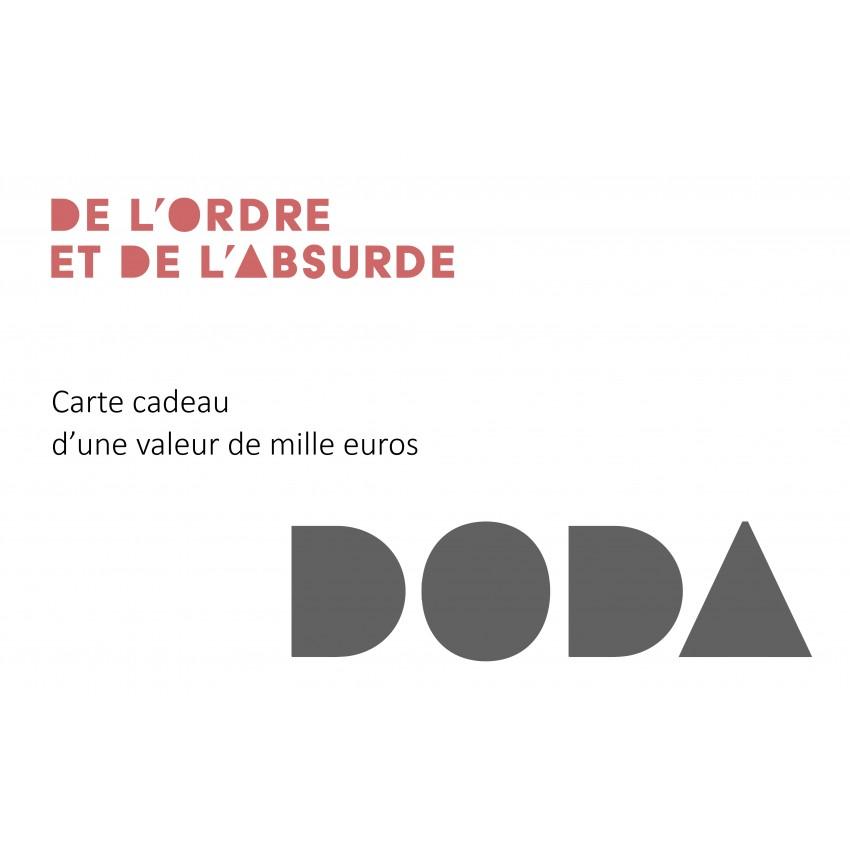 Chèque cadeau 1000 euros DODA