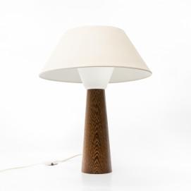 Lampe de bureau Philips en bois, verre et métal