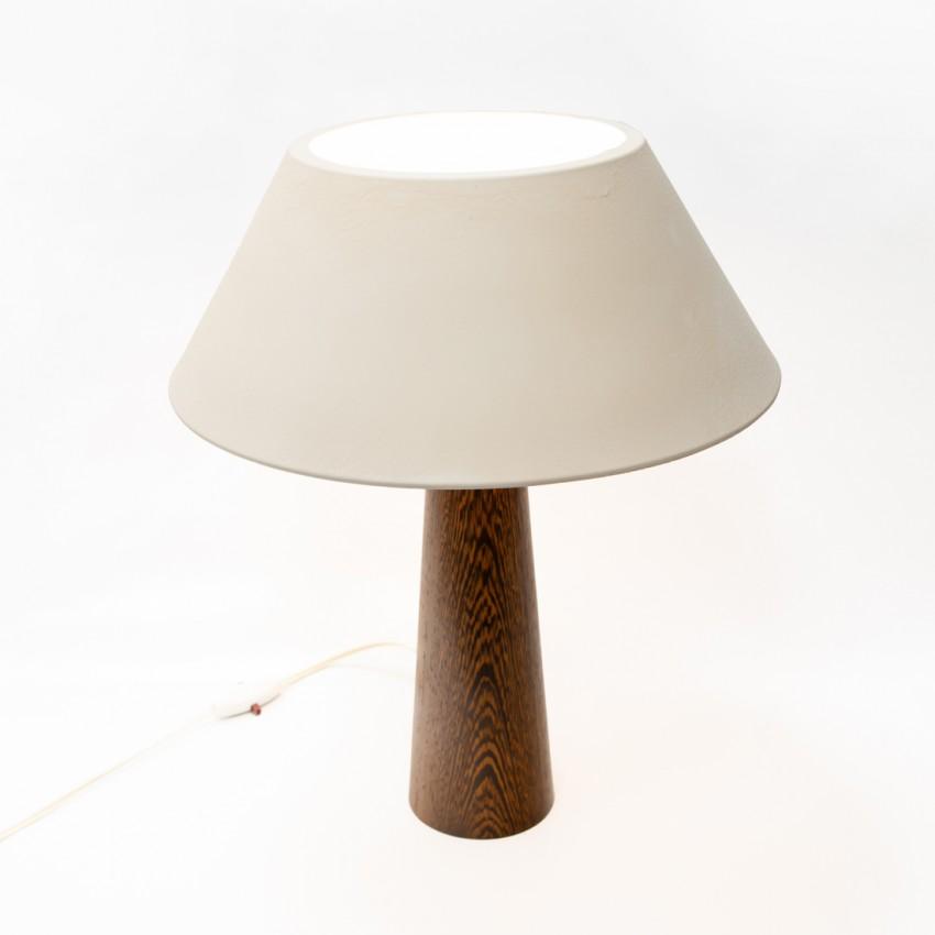 Lampe de bureau Philips en bois, verre et tôle laquée