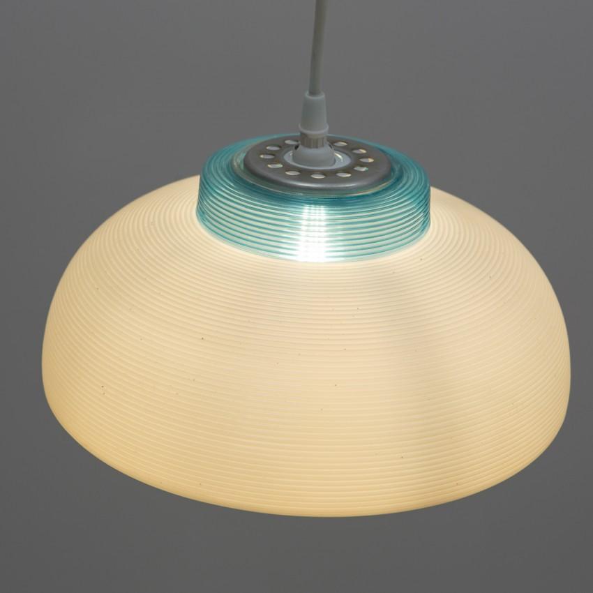 Suspension en Rotaflex blanc et turquoise
