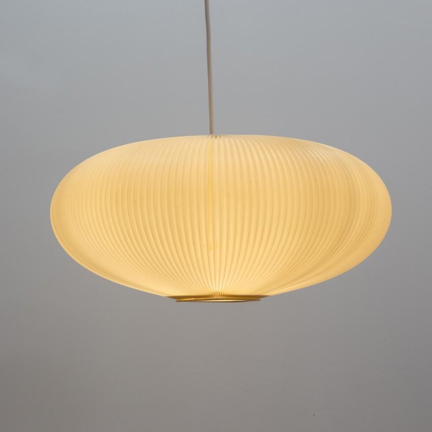 Lampion en plastique plissé des années 1950