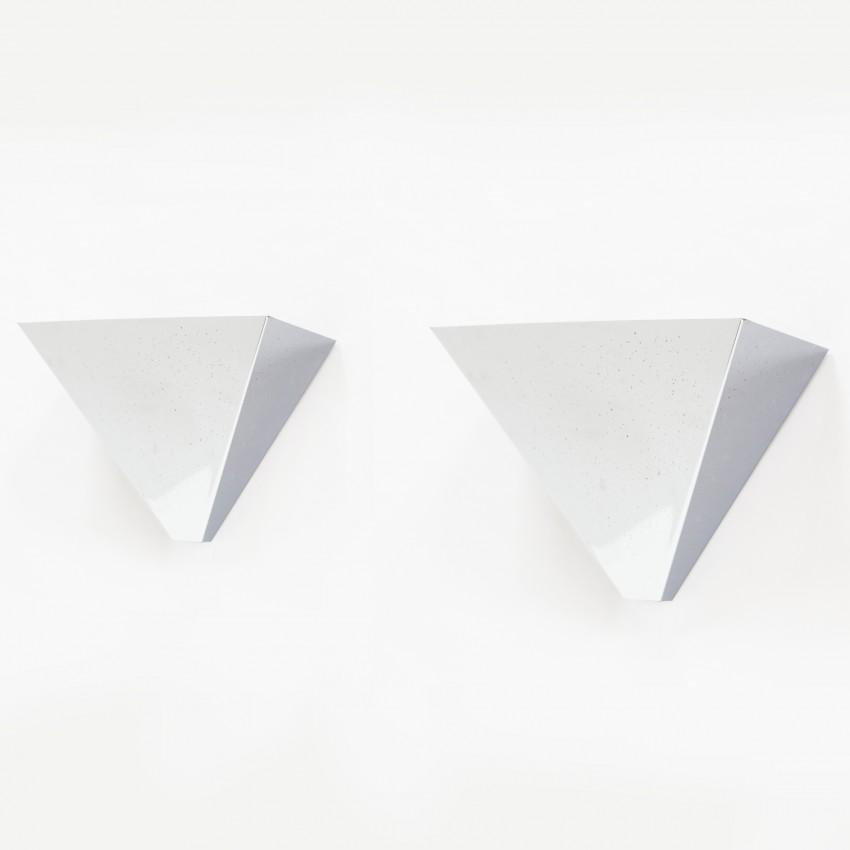 Vasques chromées pyramidales des années 1970
