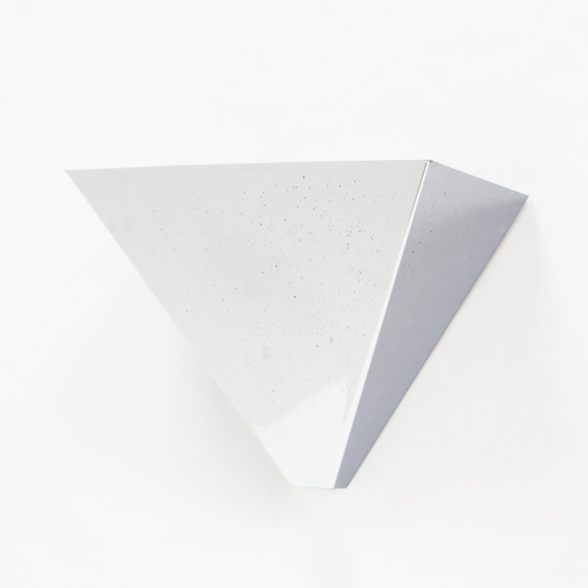 Appliques triangulaires en métal chromé - Amilux