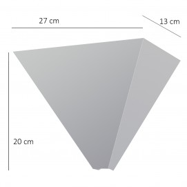 Vasques triangulaires en métal chromé des années 1970