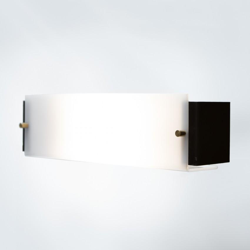 Applique en métal et Plexiglas plié des années 1950