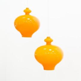 Suspension en verre orange Oplight 5171 de Jakobsson pour Markaryd