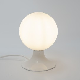 Champignon lumineux en métal laqué et verre opale