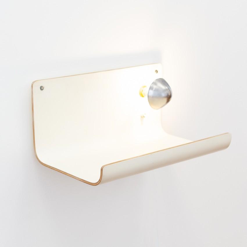 Chevet à ampoule à calotte argentée Négroni