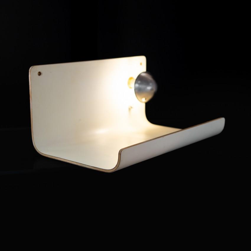 Tablette de chevet murale en contreplaqué moulé - Guariche