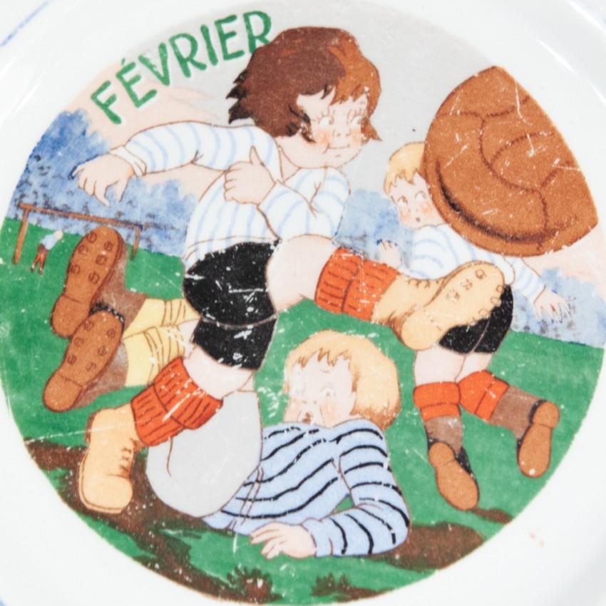 Assiettes calendrier - Ceranord (Saint-Amand)