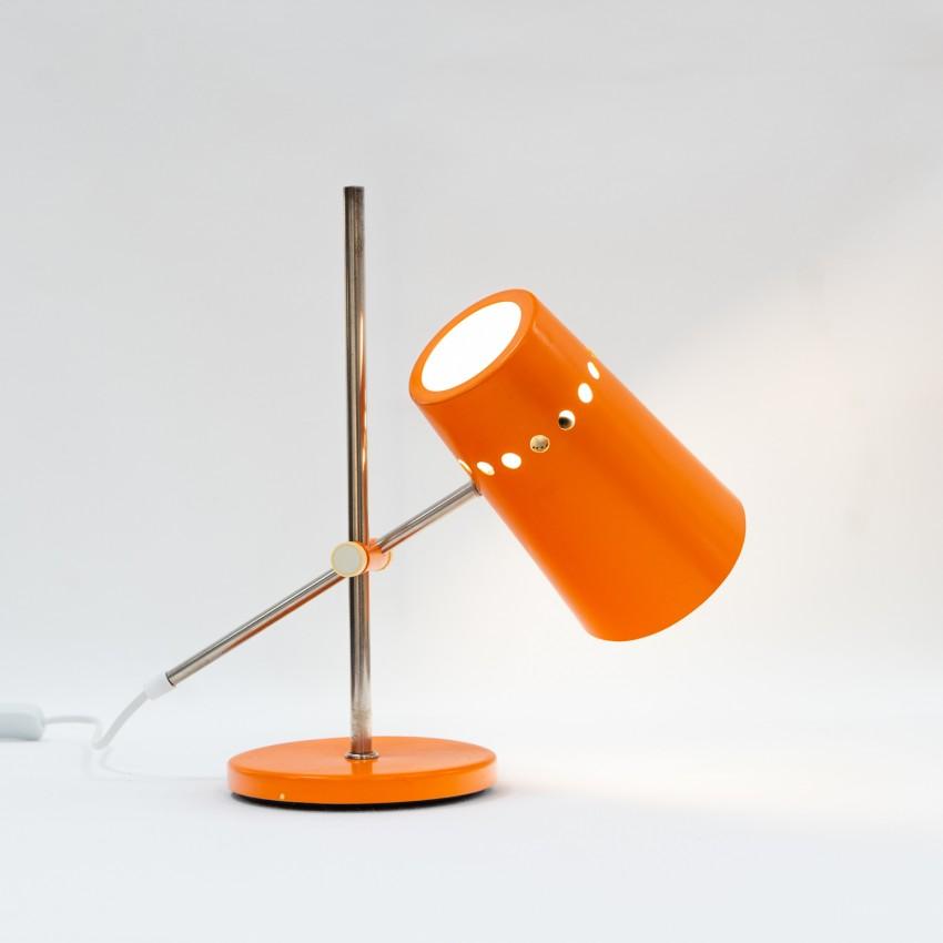 Lampe de bureau articulée en tôle laquée et Plexiglas